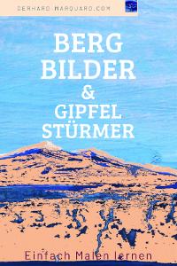 Bergbilder, berg vor blauem Hintergrund