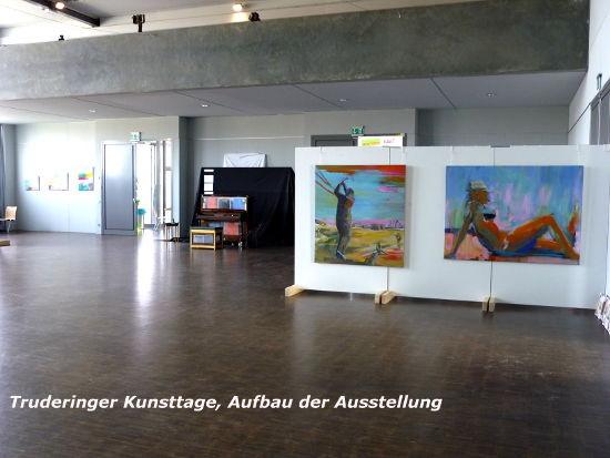 Truderinger Kunsttage, Aufbau der Ausstellung