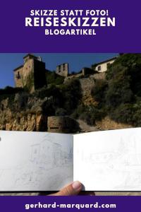 Reiseskizze, castillo Tamarit in altafulla