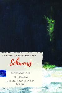 Schwarz in der Malerei, Ausschnitt, am Lech, Landschaft