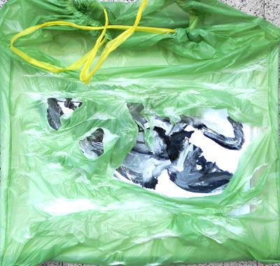 Pescalito, Präsentation mit Plastikfolie,