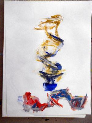 Kunstkompass Nord, Malen einer Farbtube, Dozent: G. Marquard 4