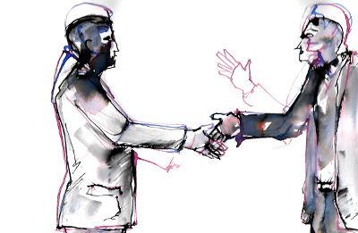 2 Männer die sich die Hände schütteln