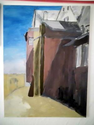 Kunstkompass Nord, Dozent: G. Marquard, Grisaille Untermalung-in Farbe ausgearbeitet  2