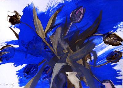 Tulpen, Acryl/Papier