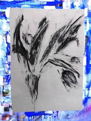 Tulpen, Zeichenkohle/Papier
