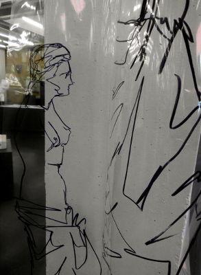 Venus am Pilaster, Folienzeichnung