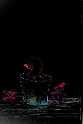 Zeichnung, Pinguine