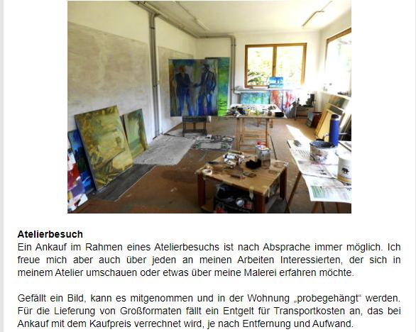 Foto Atelier, Bilder und Ateliersituation
