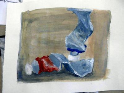 Kunstkompass Nord, Malen einer Farbtube, Dozent: G. Marquard 3