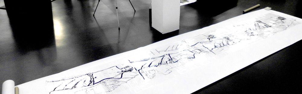 Folienzeichng, ca 70 x 400 cm, Venus von Milo