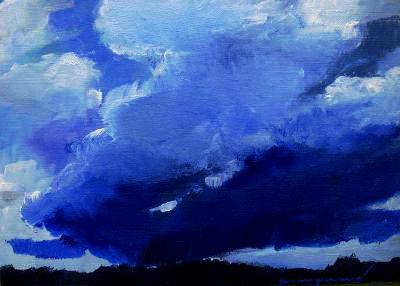 Landschaft, Blau, Lech