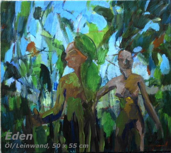 Eden, Öl/Leinwand, 40 x 45 cm