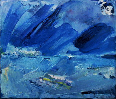 Blaues Land, Ölbild