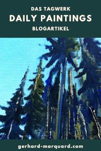 Fichtenwald aus der Froschperspektive, ölbild