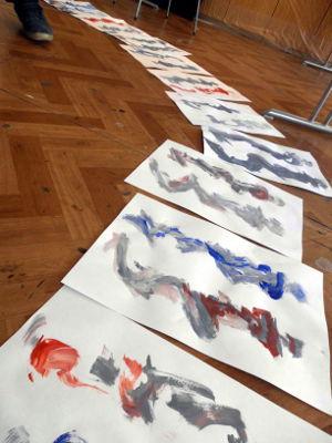 Kunstkompass Nord, Malen einer Farbtube, Dozent: G. Marquard 5