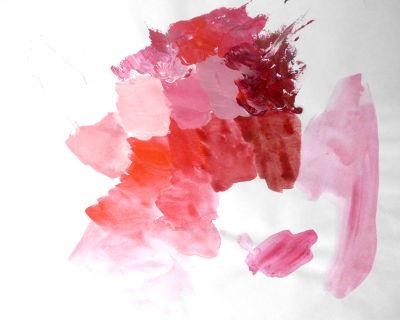 Freie Farbübung zu monochromer Malerei mit organischer Form
