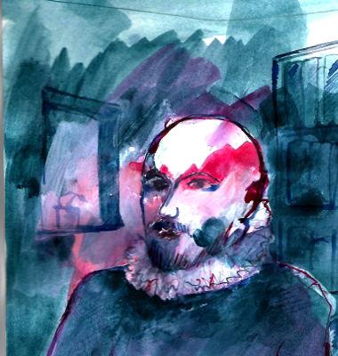 Portraitzeichnung, Montaigne