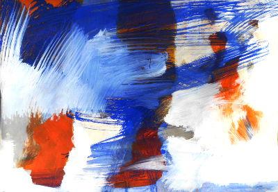 Orange, Ultramarinblau, Weiß, Hell-Dunkel-/Mengenkontrast