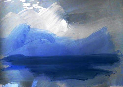 Wolkenbilder auf Papier