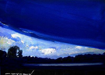 Landschaft, Lech, Blau