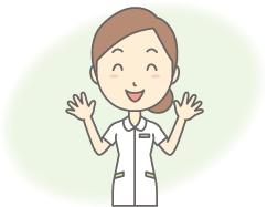 これから在宅医療を始められる方のイメージ画像 両手を広げる看護師