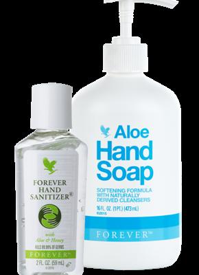 HAND SOAP reinigt gründlich,versorgt die Haut mit viel Feuchtigkeit / Hand Sanitizer effektiv vor Bakterien und Keimen