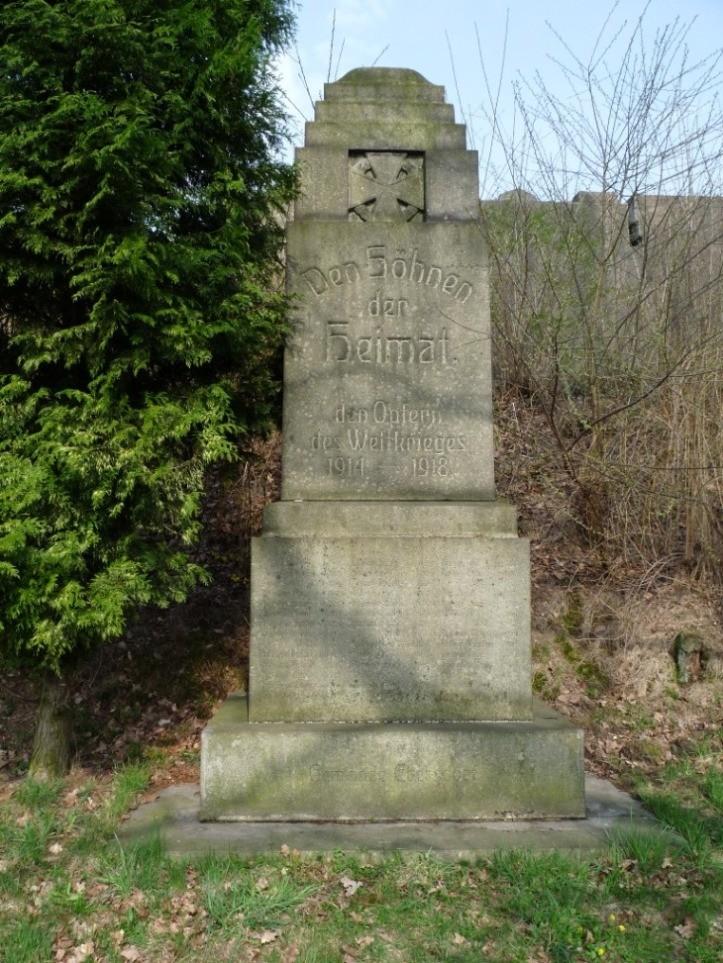Kriegerdenkmal für die Opfer des 1. Weltkrieges in Ebersdorf
