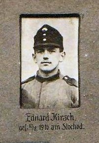 Kirsch Eduard  -  Am Stochod (einer von vier größeren Flüssen in  Wolhynien) verlief zur Zeit des Ersten Weltkrieges, vom Juni 1916 bis Spätsommer 1917, die Frontlinie zwischen den Mittelmächten und der Russischen Armee.