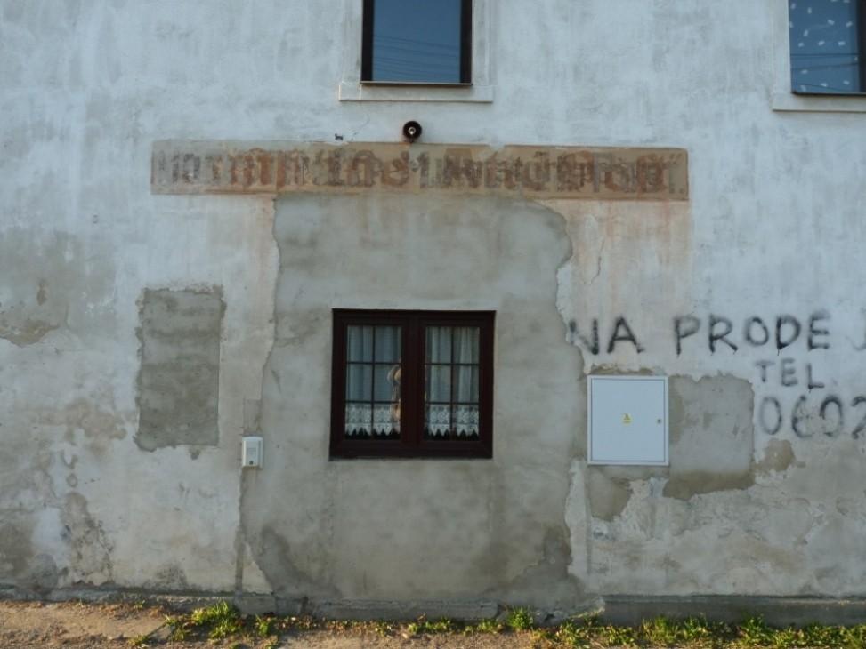 """Das ehemalige Gasthaus """"Zur Post"""" - hier war der Eingang"""