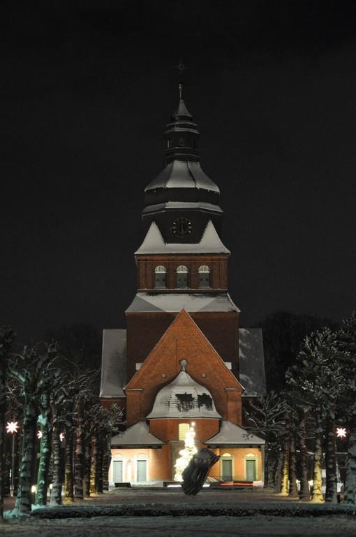 Die Stiftskirche bei Nacht