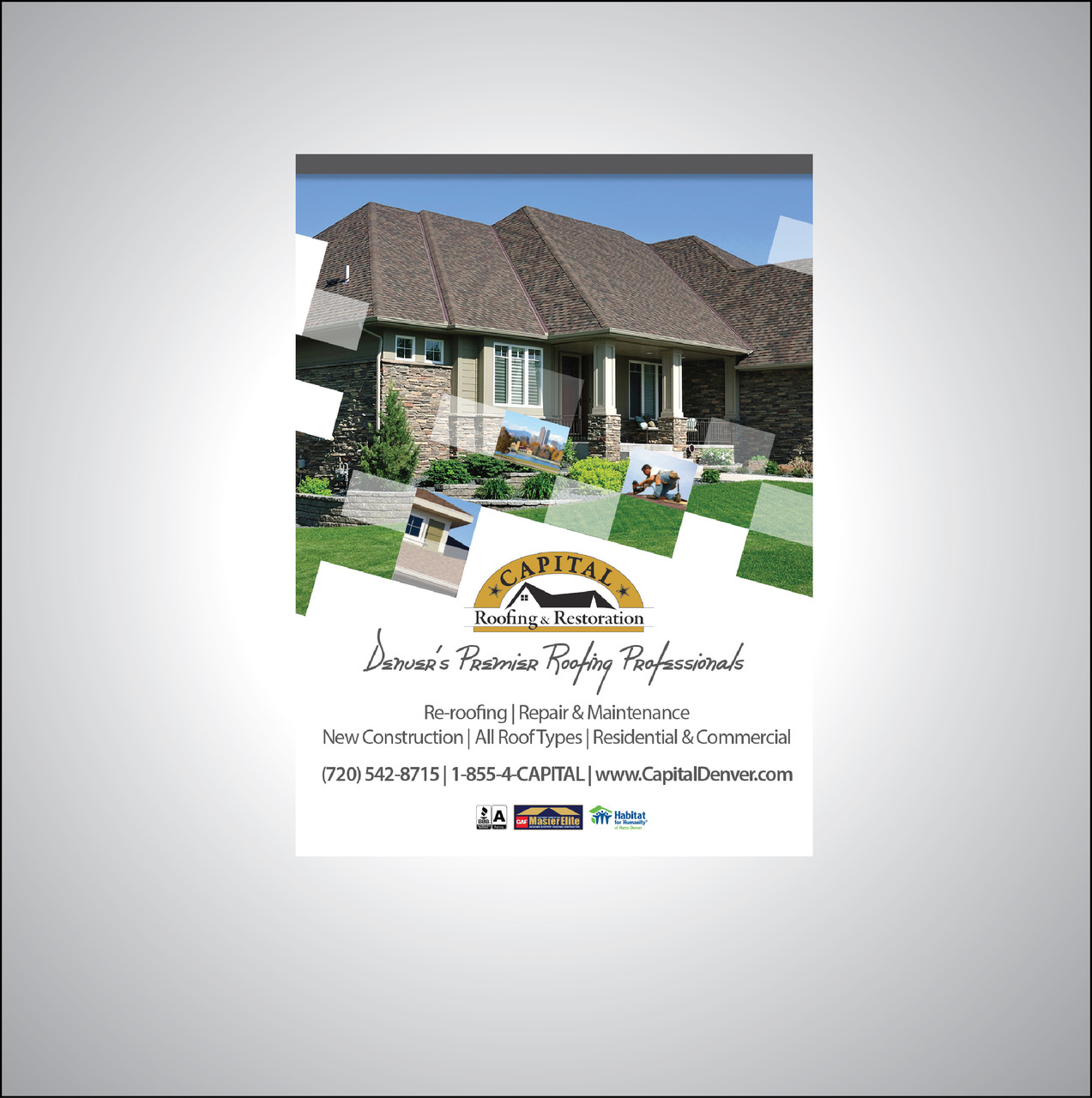 Logo and Branding/publications for Capital Roofing