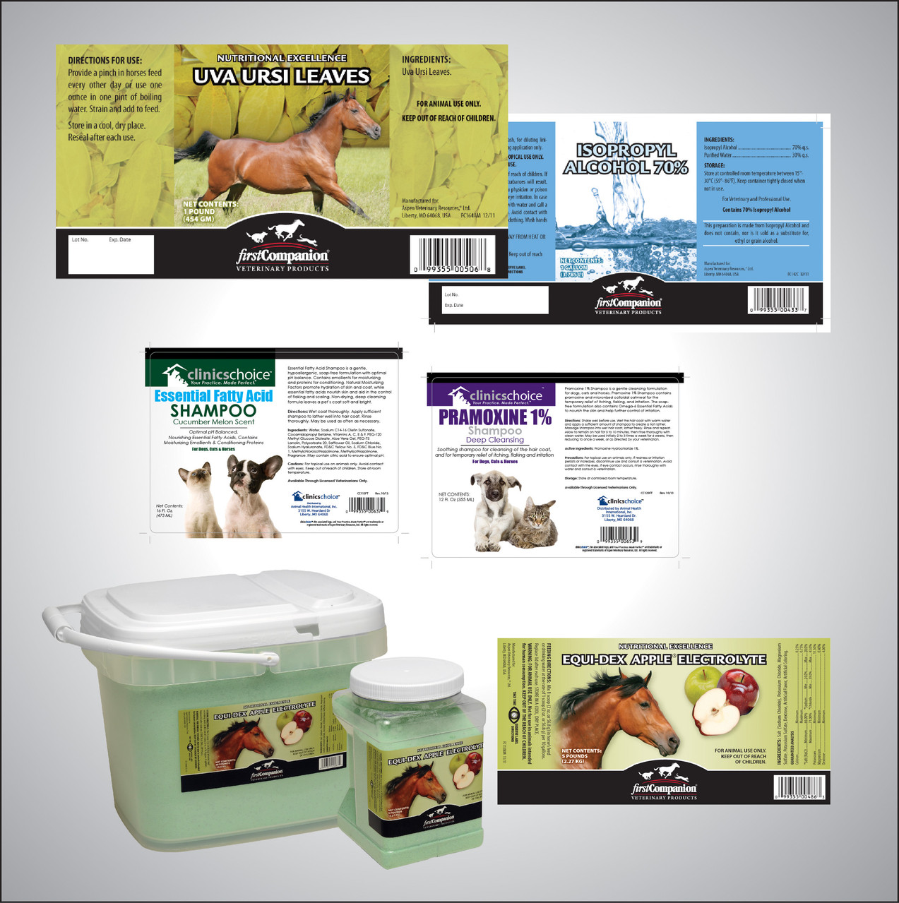 Labels and Packaging for over 300 SKUs