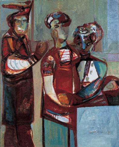 Al Bar 150 x 120 Öl Lw. 1998