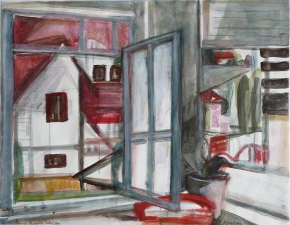 Fensterblick 1 46×59 Öl Lw 2012