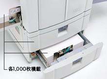 効率よく給紙できるフロント給紙架台