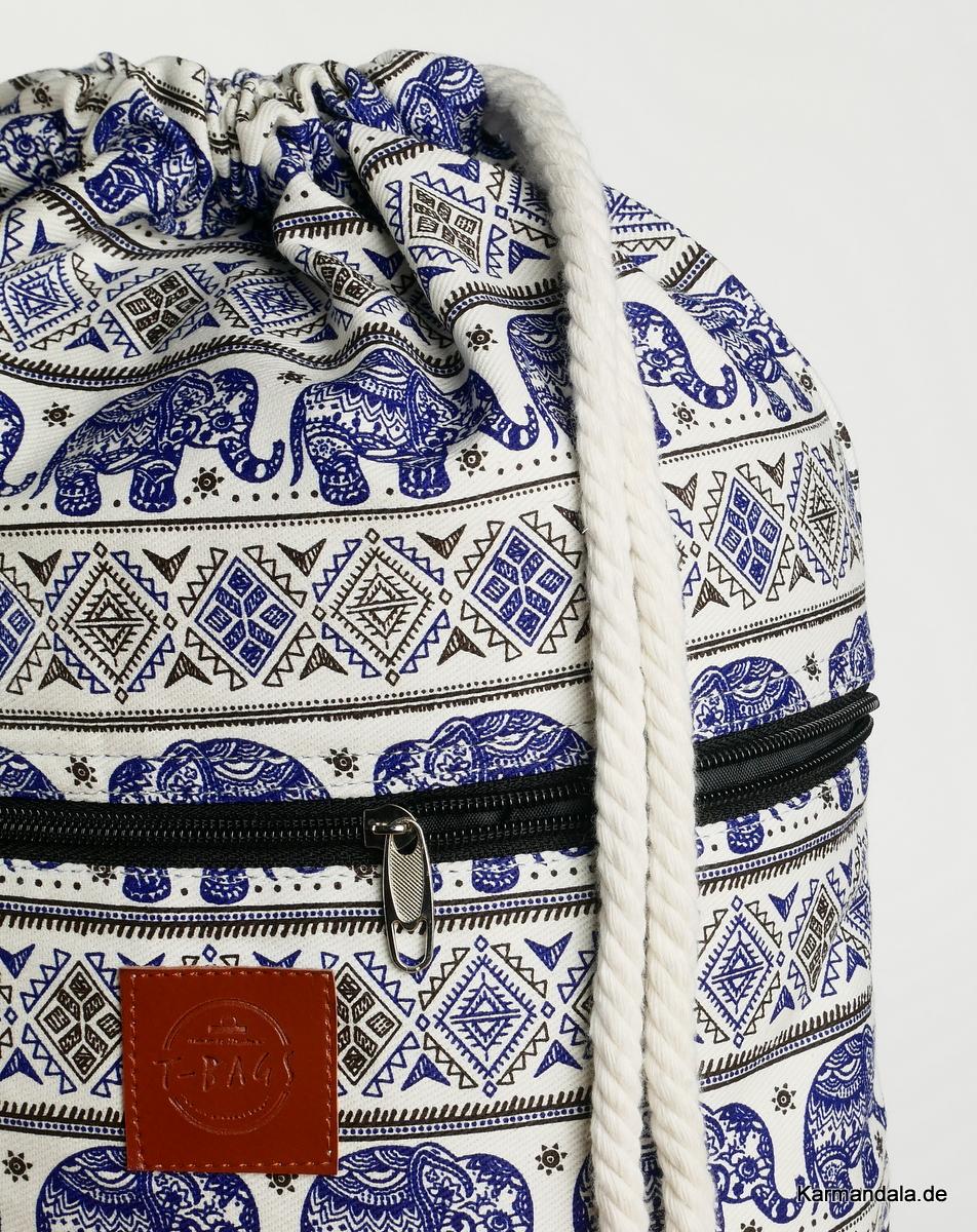 Blaues Elefanten Muster