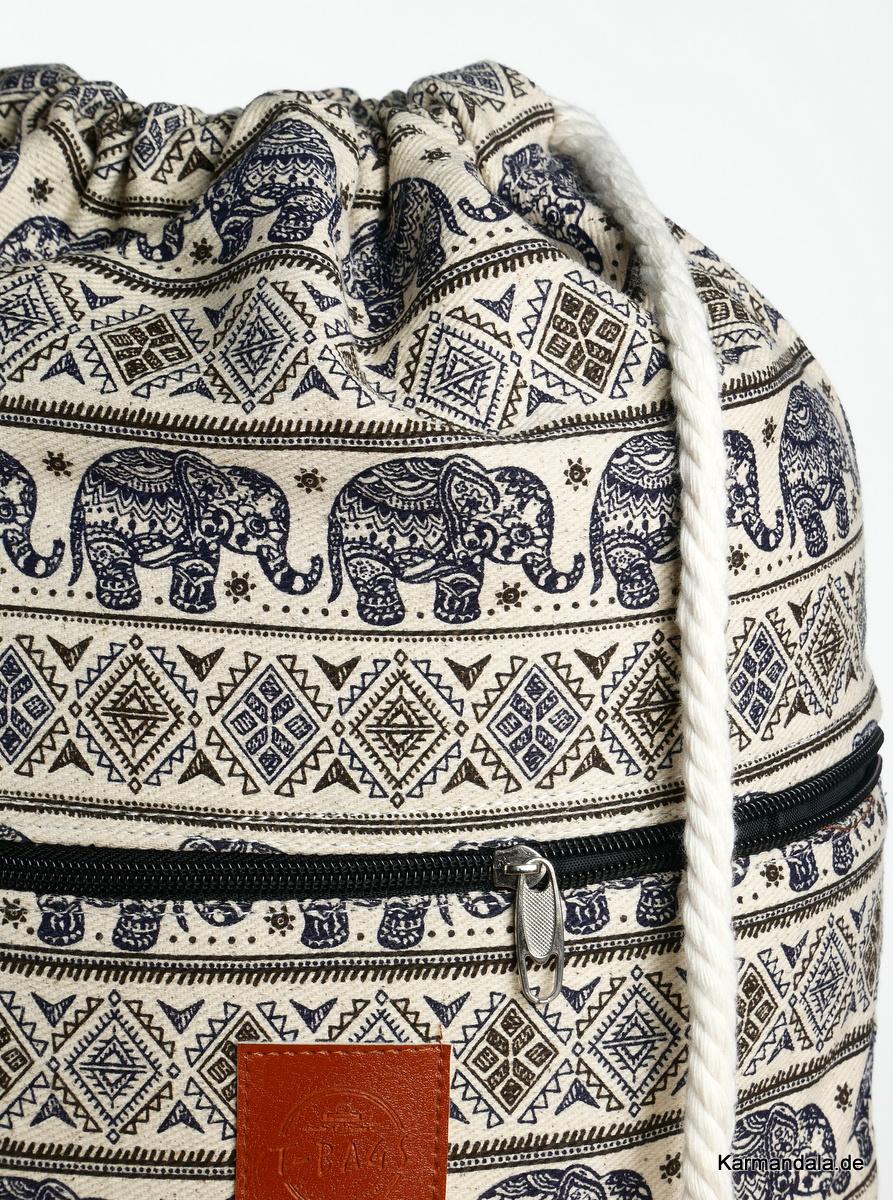 Dunkel blaues Elefanten Muster