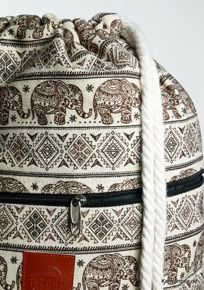 Braunes Elefanten Muster
