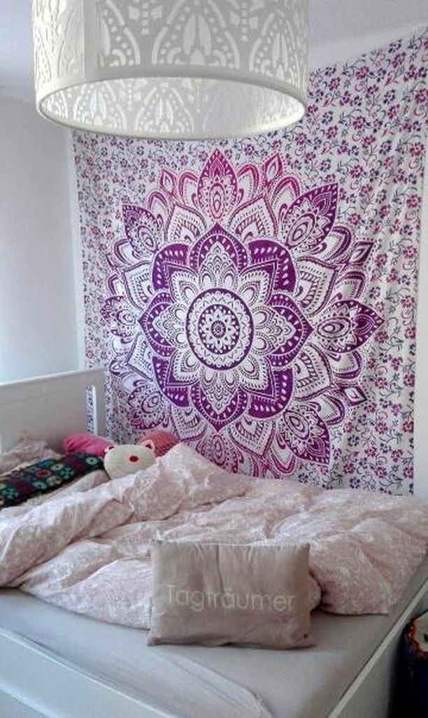 Weiß Rosa Lotusblüten Wandtuch