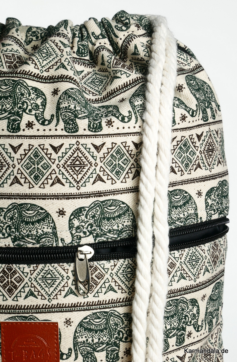 Grünes Elefanten Muster