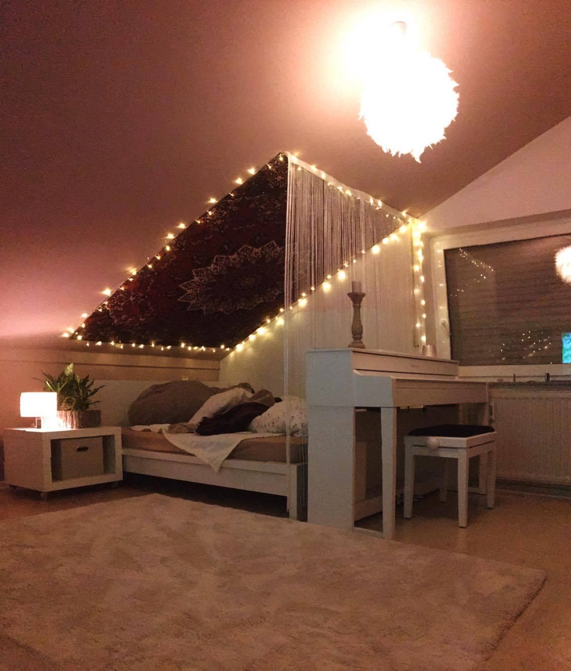 Wenn Dachschräge gleich Zimmerdecke ist bietet sich ein Wandtuch an