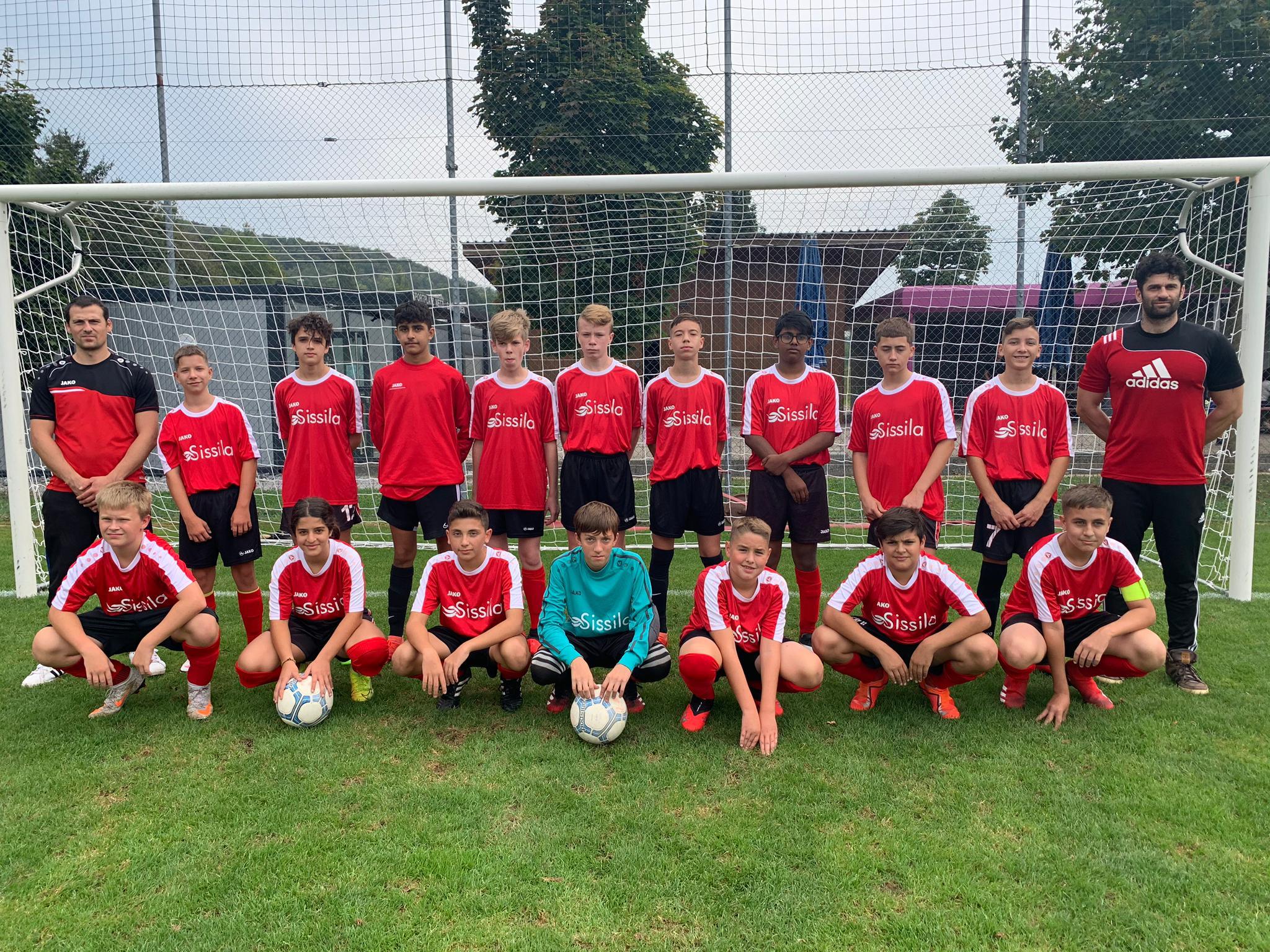 Mannschaftsfoto Junioren C, mit Sponsor Hallenbad Sissilia, Sisseln/AG Saison 2020/2021