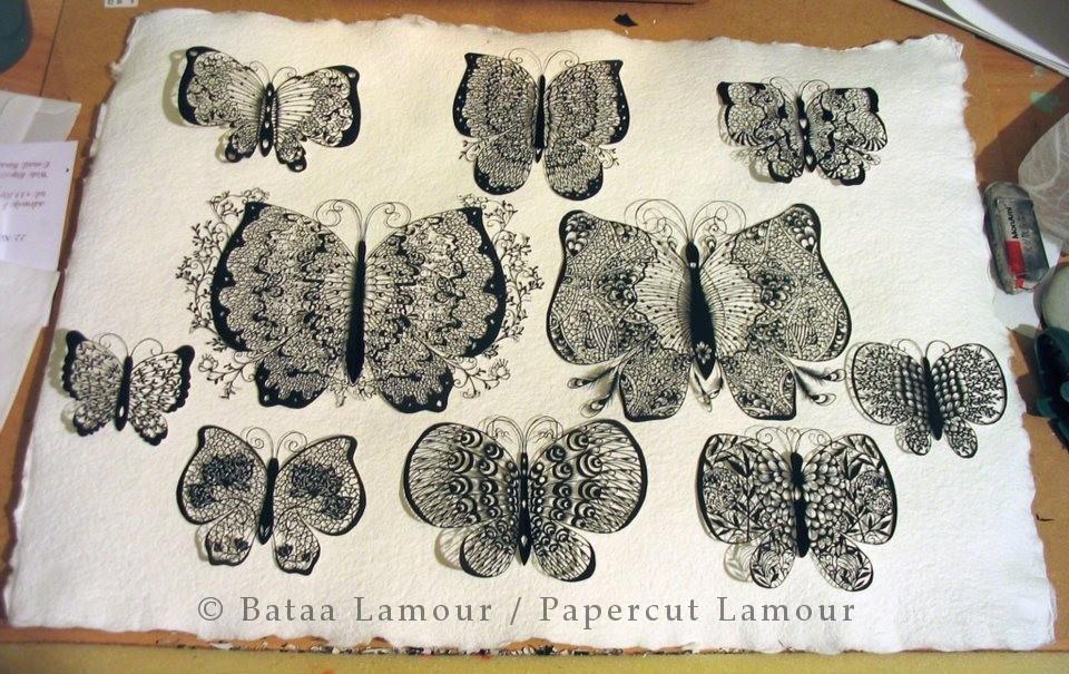 Butterflies Parpecut / copyright Papercut LamouR