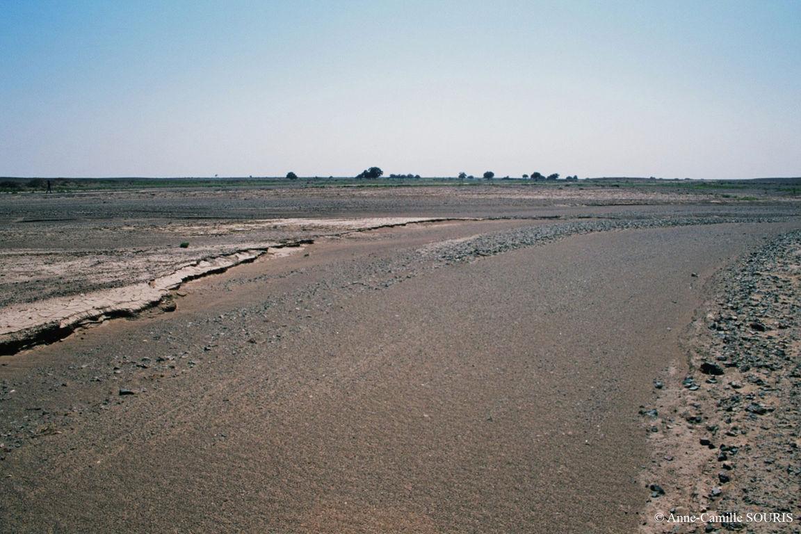Lit d'une rivière asséchée