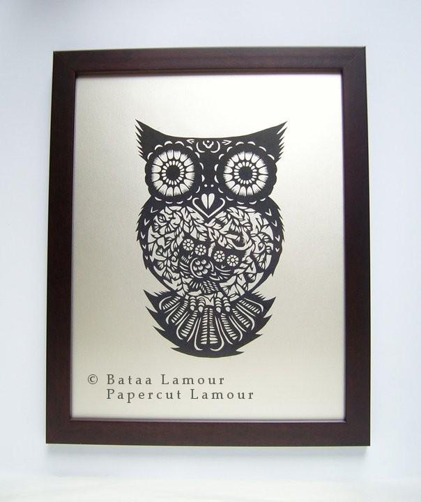 Owl Parpecut / copyright Papercut LamouR