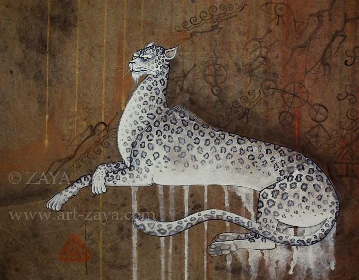 Snow leopard / copyright ZAYA www.art-zaya.com