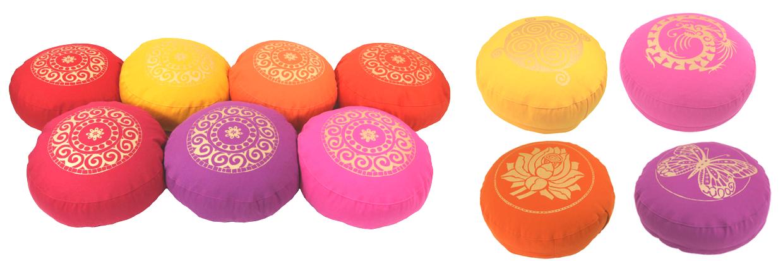 Designer Meditationskissen Gr.S Basic- verschiedene Prints + Farben: Bollywood-Style