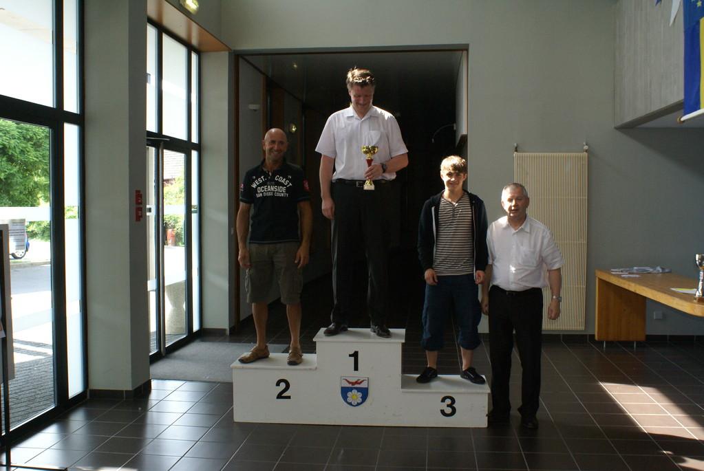 1er Eric , 2ème Christophe, 3ème Emmanuel et Bernard