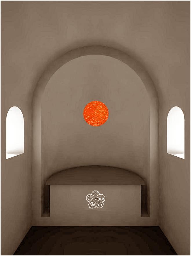 Visualisierung Innenraum, Rundfenster ohne Religionsbezug